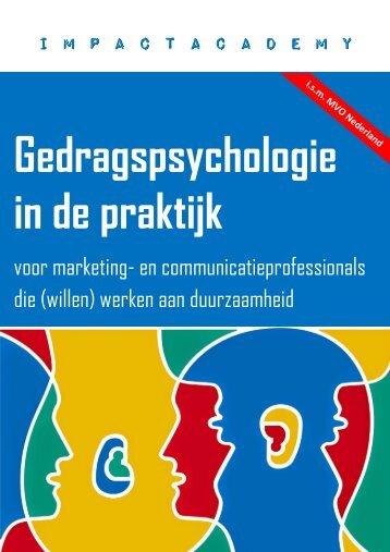 Gedragspsychologie in de praktijk