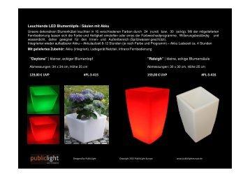 Katalog Blumentöpfe & -säulen