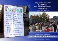 Impressionen vom  9. Hoffest  des Heimatvereins  Gommern  (04.10.2015)