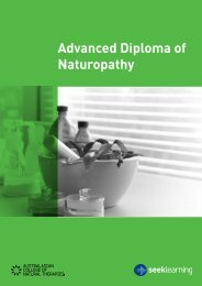 Advanced Diploma of Naturopathy