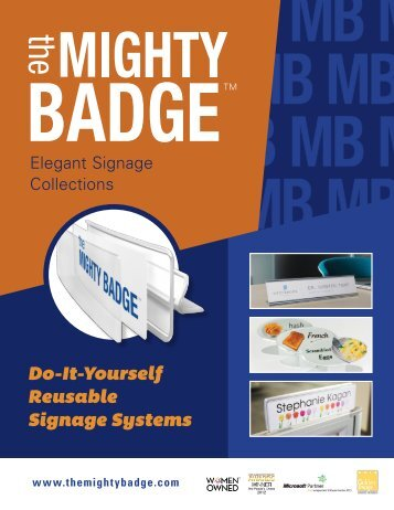 Do-It-Yourself Reusable Signage Systems
