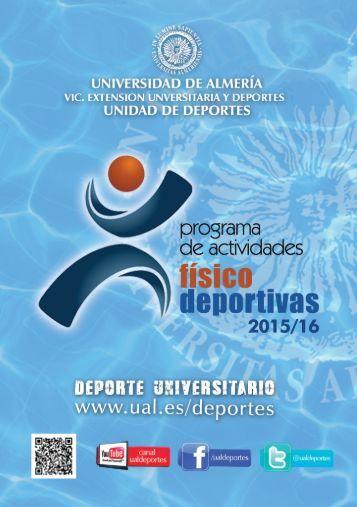 Programa Actividades Físico Deportivas UAL 15-16