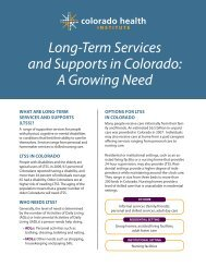 Long-Term Services and Supports in Colorado A Growing Need