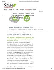 Get Customized Asigra End User List from Span Global Services