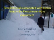 Research issues associated with excess heat in the Fleischmann-Pons experiment