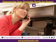 Outsourcing Your Domestic Needs for Homes