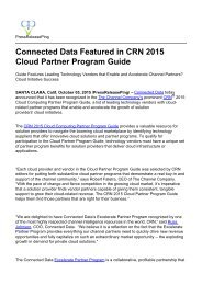 Connected Data Featured in CRN 2015 Cloud Partner Program Guide