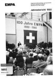 Jahresbericht 1980 - Eawag-Empa Library / Empa-Eawag Bibliothek