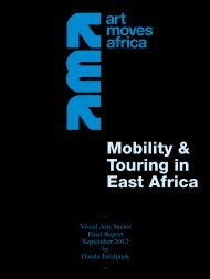 Art Moves Adrica – Mobility & Touring in East Africa 2012