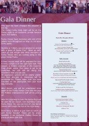 Gala night promo page