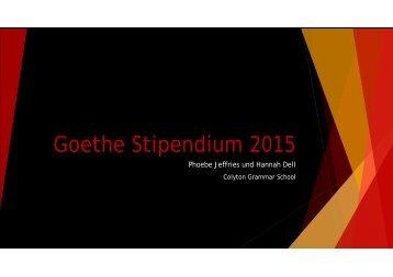 GoetheStipendium 2015