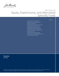 Equity Fixed-Income and Alternative/ Specialty Funds