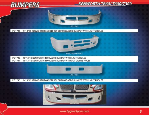 BUMPERS KENWORTH W900/T80