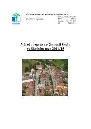 Výroční zpráva o činnosti školy ve školním roce 2014/15
