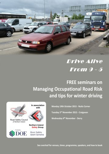 FREE seminars on Managing Occupational Road Risk and tips for winter driving