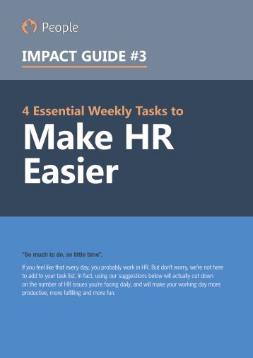 4 Essential Weekly Tasks to Make HR Easier