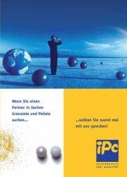 IPC. Ihr kompetenter Partner für Granulate und Pellets. - Glatt