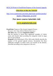 HCR 230 Week 6 CheckPoint Purpose of the General Appeals