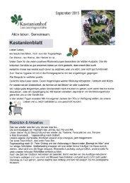 Kastanienblatt September