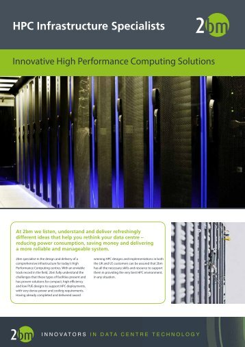 HPC Infrastructure Specialists