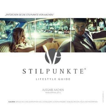 STILPUNKTE Lifestyle Guide Ausgabe Aachen Herbst/Winter 2015/2016