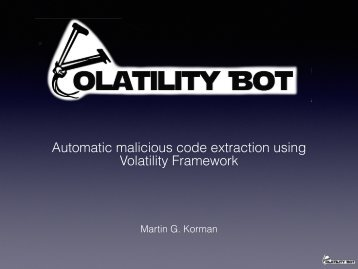 Automatic malicious code extraction using Volatility Framework