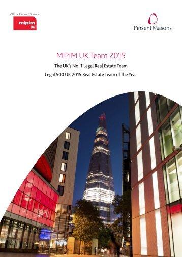 MIPIM UK Team 2015
