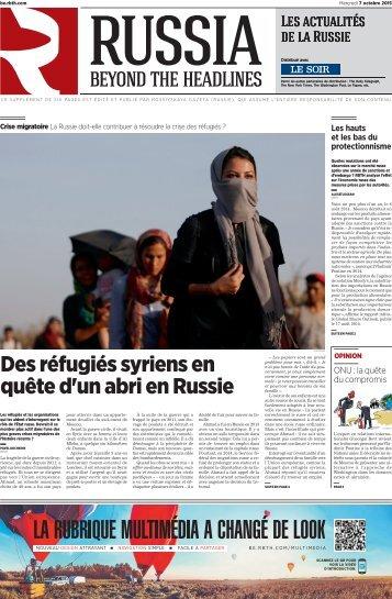 Des réfugiés syriens en quête d'un abri en Russie