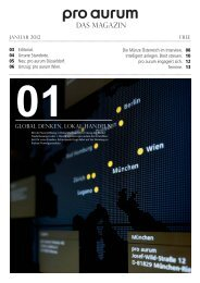 pro aurum Magazin - Ausgabe 1: Global denken - lokal handeln