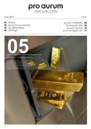pro aurum Magazin - Ausgabe 5: Sicher Verwahren