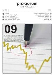 pro aurum Magazin - Ausgabe 9: Nutzen Sie jetzt die Goldpreiskorrektur