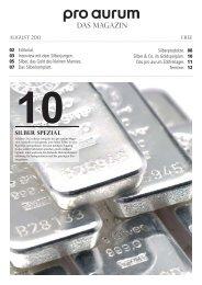 pro aurum Magazin - Ausgabe 10: Silber Spezial