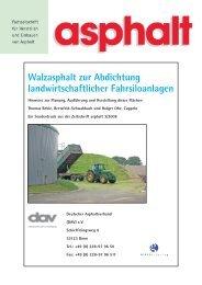 Walzasphalt zur Abdichtung landwirtschaftlicher Fahrsiloanlagen