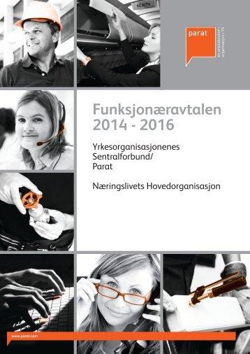Funksjonæravtalen 2014 - 2016 linker og omslag