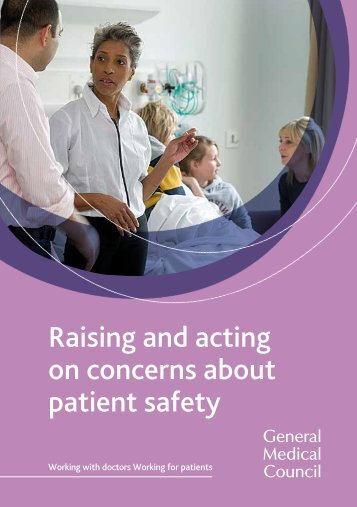 Raising and acting on concerns about patient safety