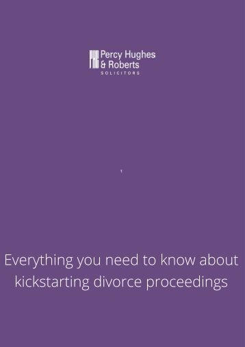 Everything you need to know about kickstarting divorce proceedings