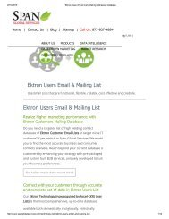 Buy Tele Verified Ektron User Lists from Span Global Services