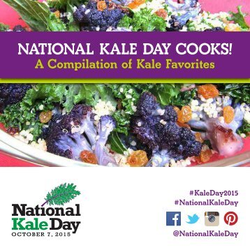 NATIONAL KALE DAY COOKS!