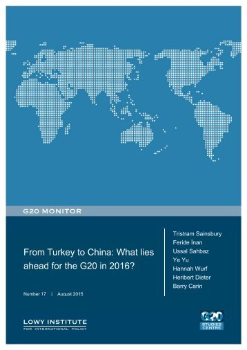 From Turkey to China What lies ahead for the G20 in 2016?