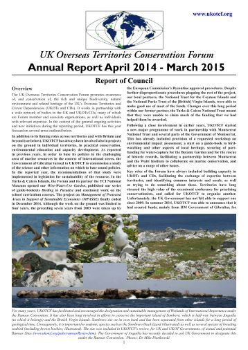 Annual Report April 2014 - March 2015