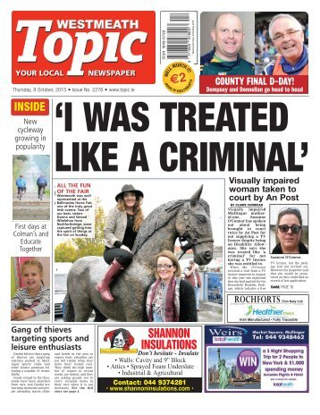 Westmeath Topic-  8 October 2015