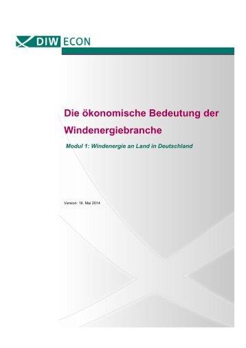 Die ökonomische Bedeutung der Windenergiebranche in Deutschland
