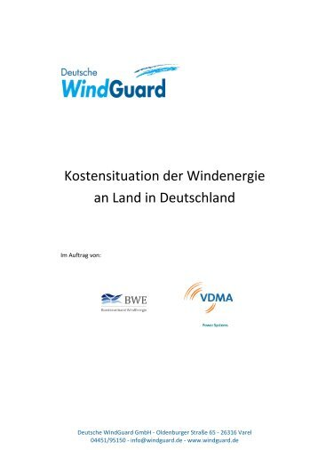 Kostensituation der Windenergie an Land