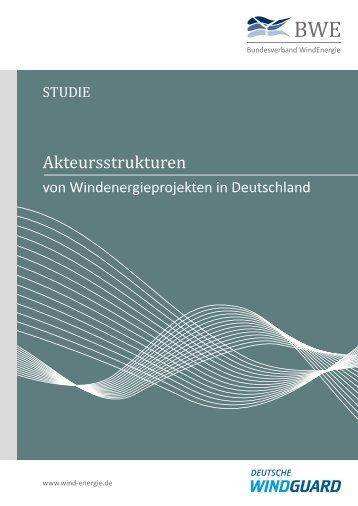 Akteursstrukturen von Windenergieprojekten in Deutschland