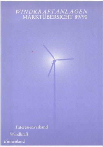 Jahrbuch Windenergie 1990 - BWE Marktübersicht