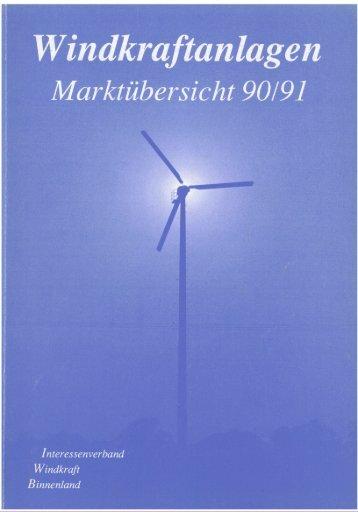 Jahrbuch Windenergie 1990/1991 - BWE Marktübersicht