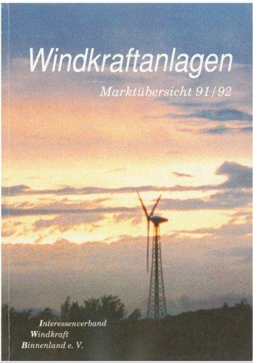 Jahrbuch Windenergie 1991/1992 - BWE Marktübersicht