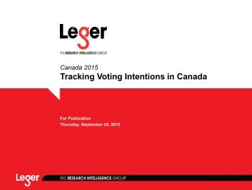 Tracking Voting Intentions in Canada