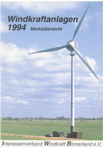 Jahrbuch Windenergie 1994 - BWE Marktübersicht