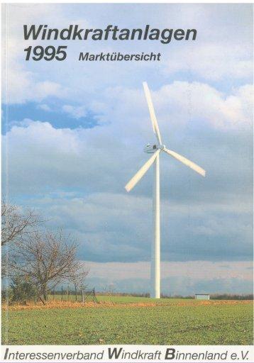 Jahrbuch Windenergie 1995 - BWE Marktübersicht